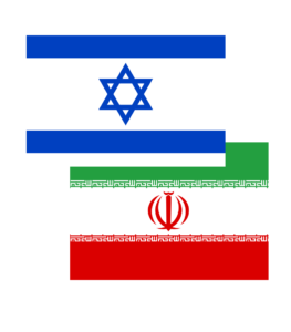 Israeli and Iranian Flags