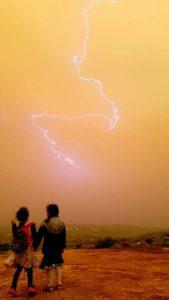 Lightening in Israel