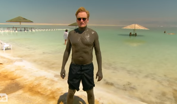 Conan in the mud of the Dead Sea