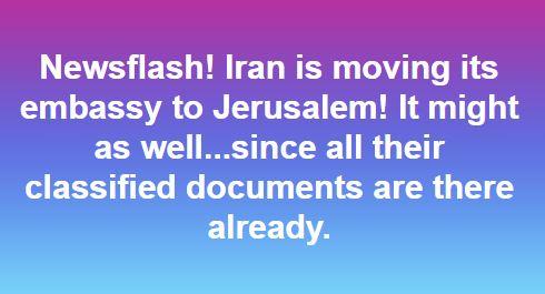Iranians Moving Embassy to Jerusalem