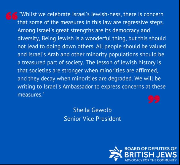 British Jewry statement